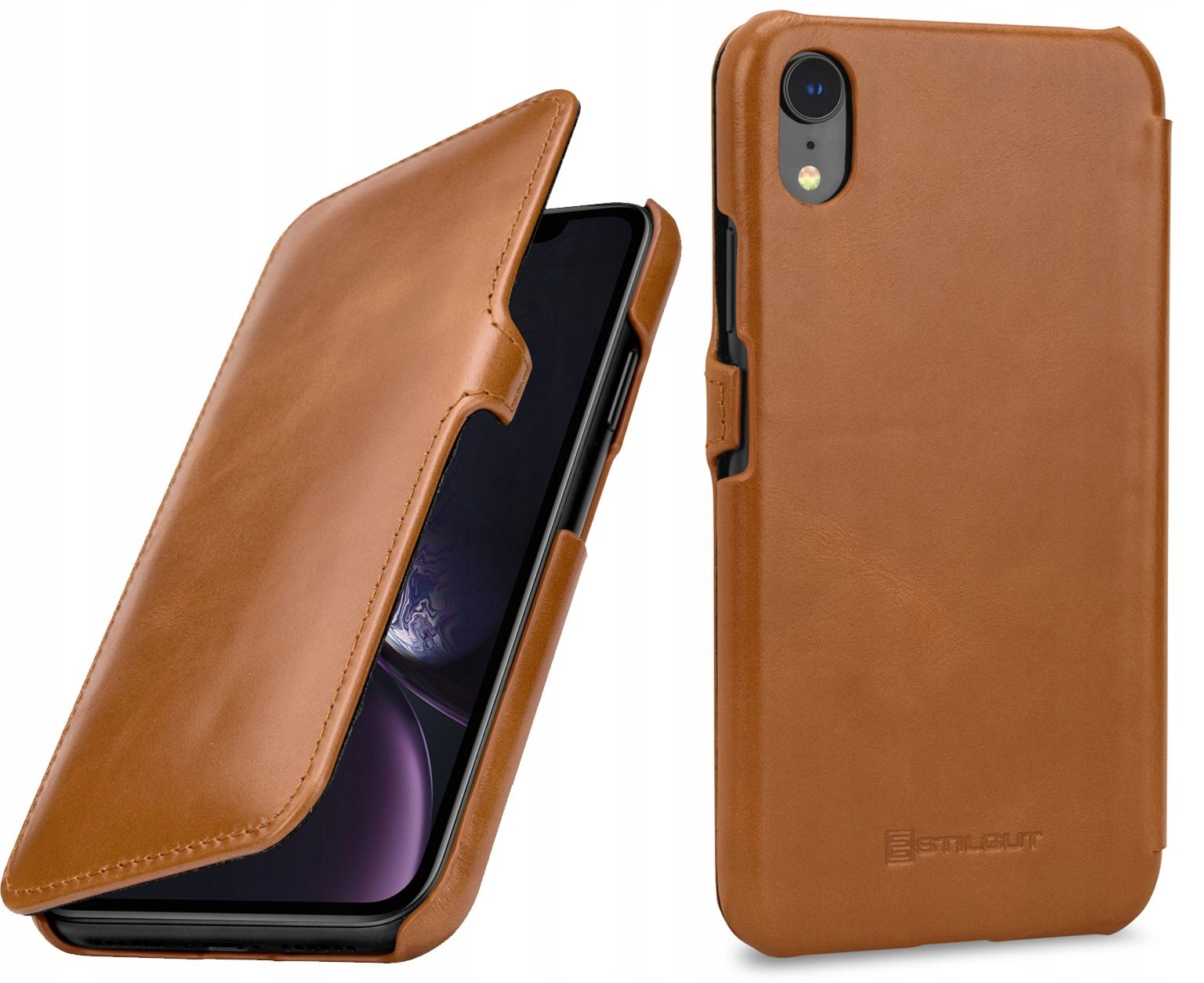 Etui Apple iPhone Xr - UltraSlim brąz książka