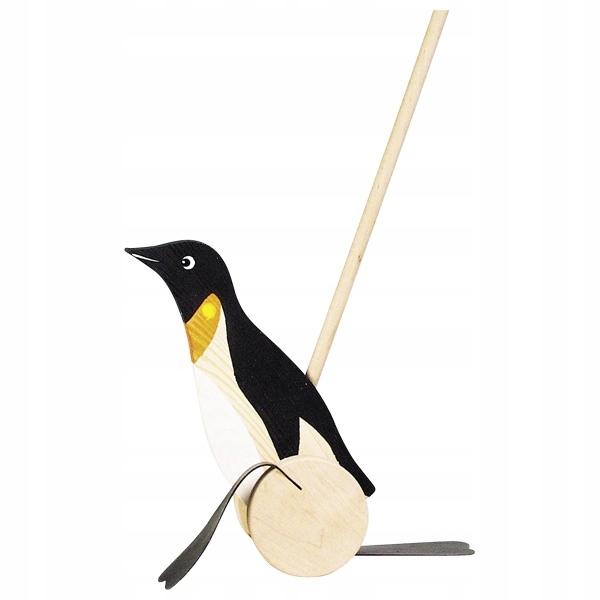 Пингвин для толкания деревянного Пачача на волне Goki