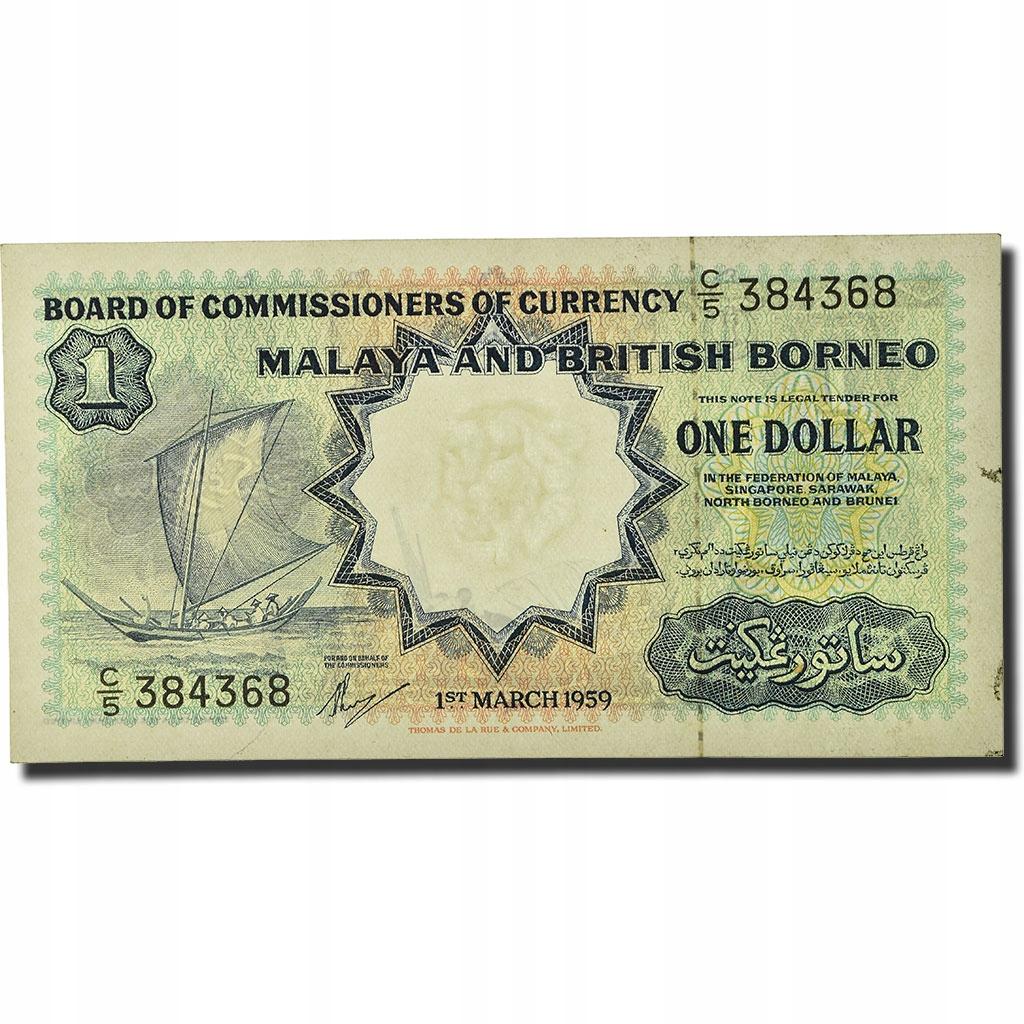 Банкнота, Малайзия и Британское Борнео, 1 доллар, 19