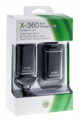 2x Bateria XBOX 360 Ładowarka KabelUSB ZESTAW Z267