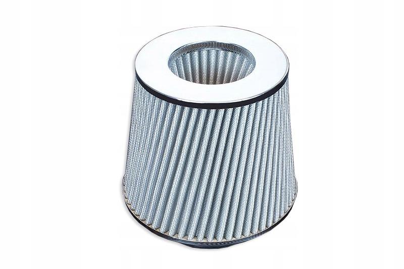 спортивный коническая фильтр воздуха -102mm серебро