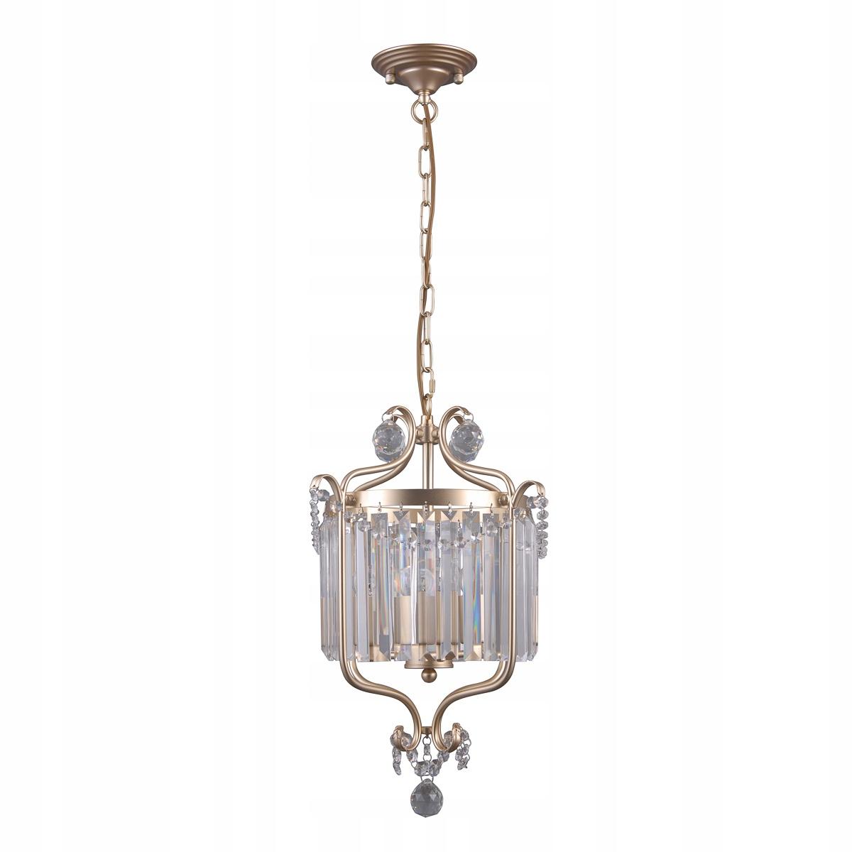 Krištáľový luster RINALDO 3x40W zlato Italux