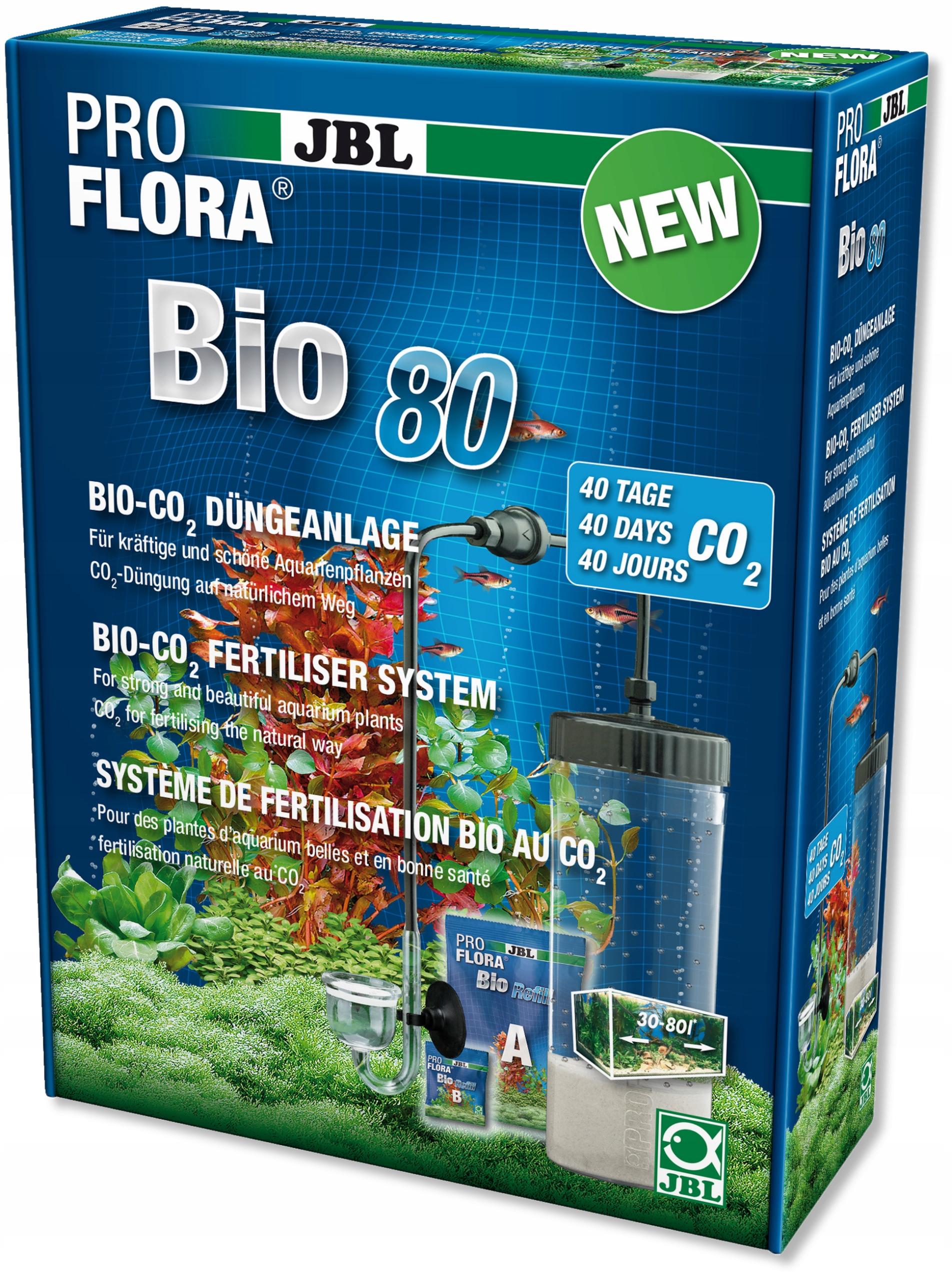 JBL ProFlora BioCO2 Nastaviť 80 + difúzor súpravy CO2