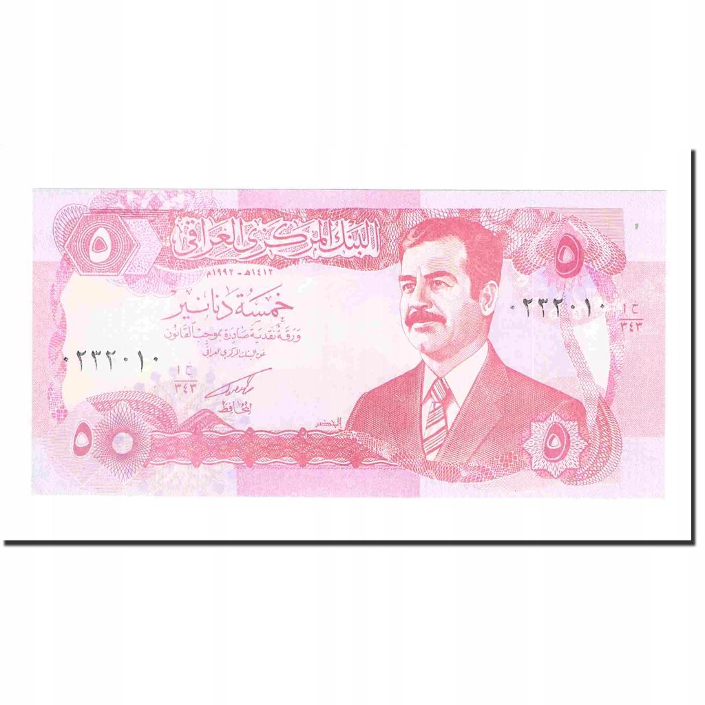 Банкнота, Ирак, 5 динаров, 1992-1993 гг., KM: 80b, UNC (65