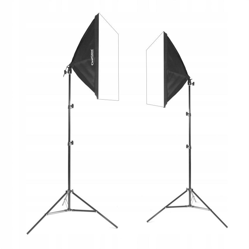 Купить 2x SOFTBOX 50x50 65Вт 230см фото-видео лампа на Otpravka - цены и фото - доставка из Польши и стран Европы в Украину.