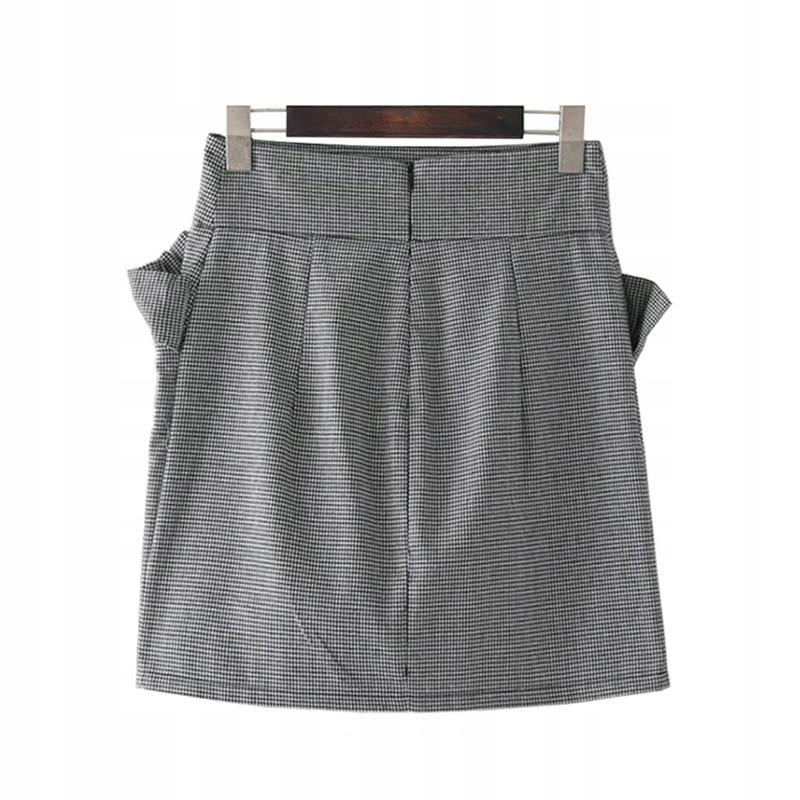 Elegancka spódnica midi z falbaną w pepitkę HIT M