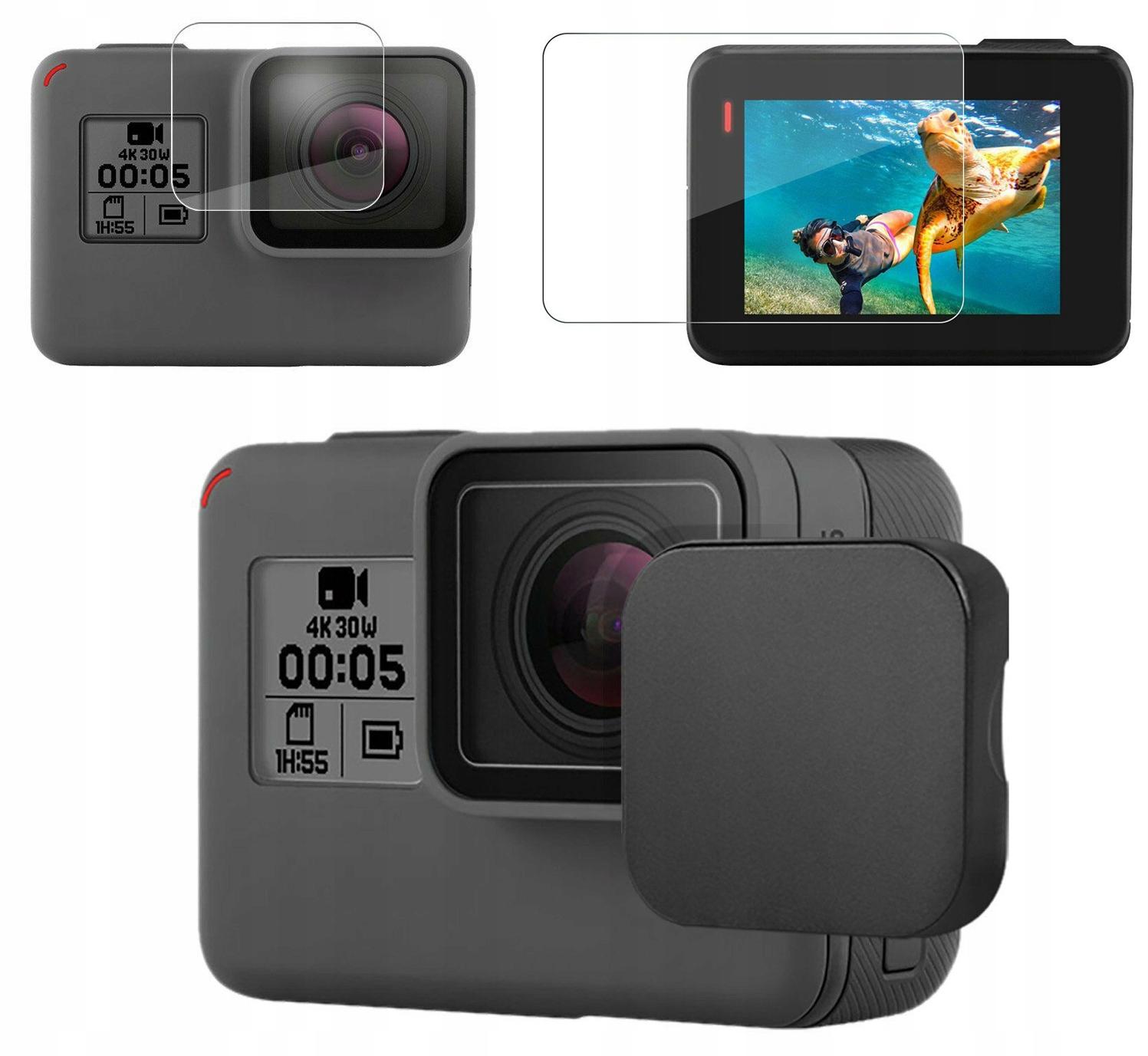 Zestaw ochronny 3w1 obiektyw + LCD do GoPro Hero 7