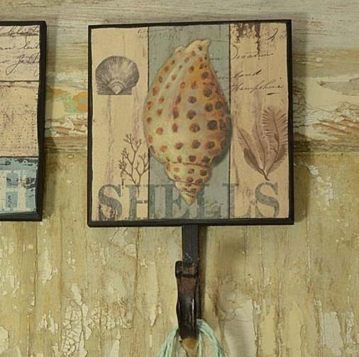 Vešiak na stenu shell retro štýle Stredomoria