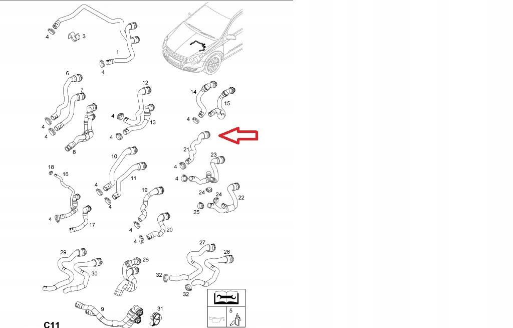 кабель нагревателя вход воды opel astra h z17dth
