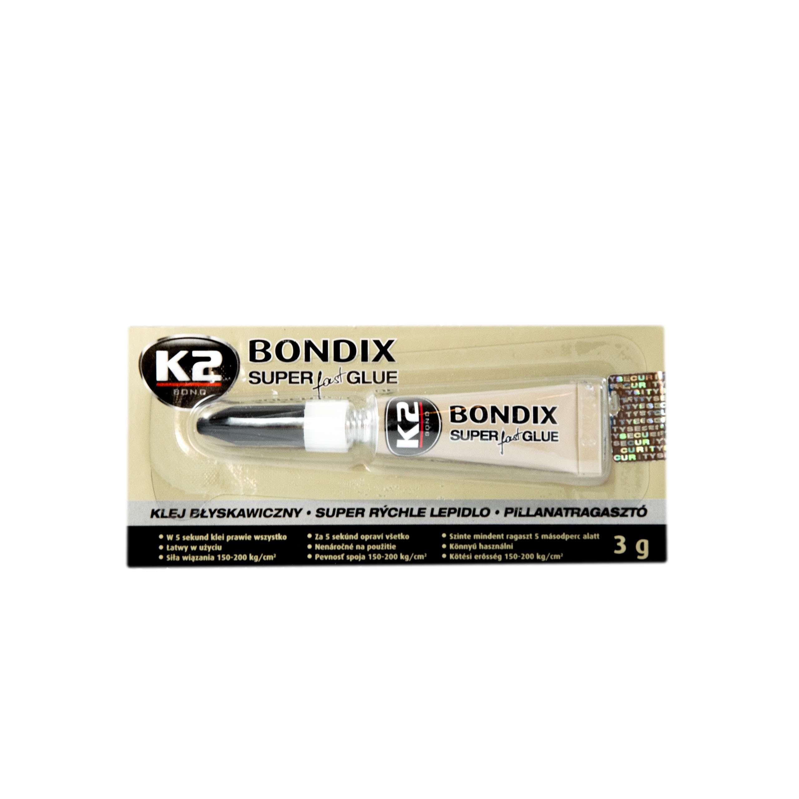 K2 Bondix 3g Мгновенный клей универсальный B1000