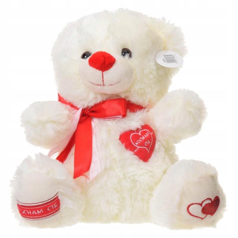Teddy Bear 2 vzory Plush Valentine srdce Milujem ťa