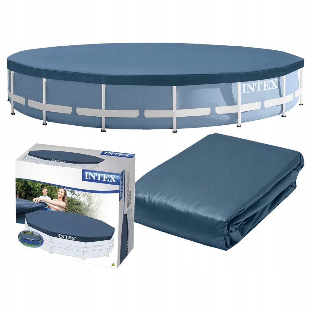 Крышка бассейн для монтажа в стойку 457 см прочная INTEX 28032