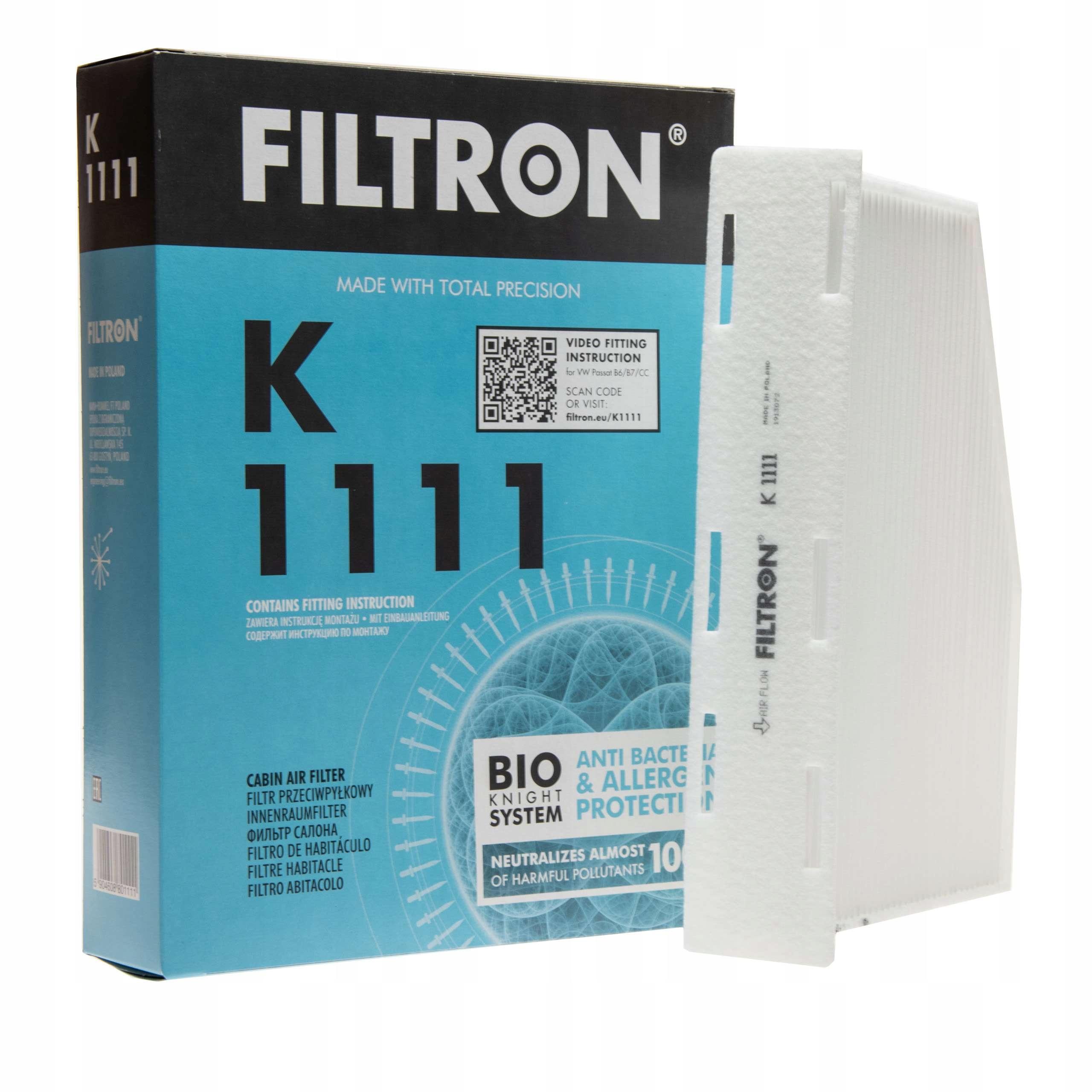 filtron фильтр кабины k1111 audi a3 seat altea