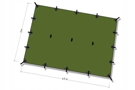 Plátno, látkové Nezostalo DD XL 4. 5x3 - olivový