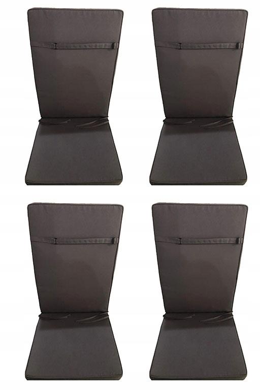 Univerzálny vankúše pre záhradné stoličky sivá 4