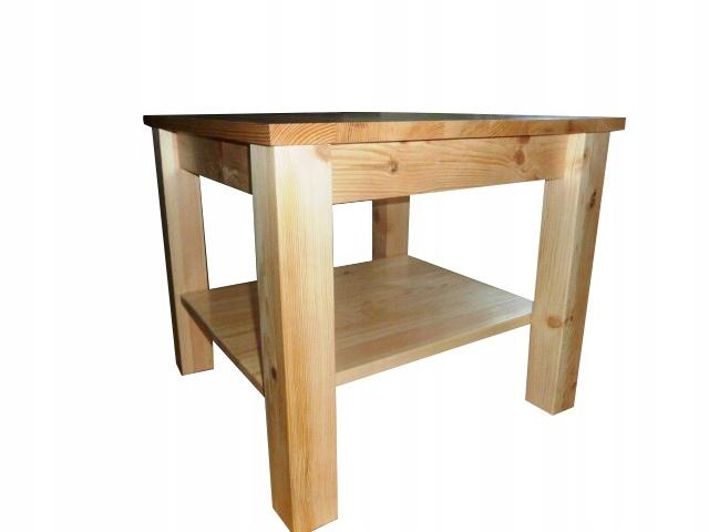 Stół drewniany sosnowy 100x70 ELEGANCKI NOWOCZESNY Głębokość mebla 70 cm