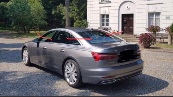 дах на Audi A6