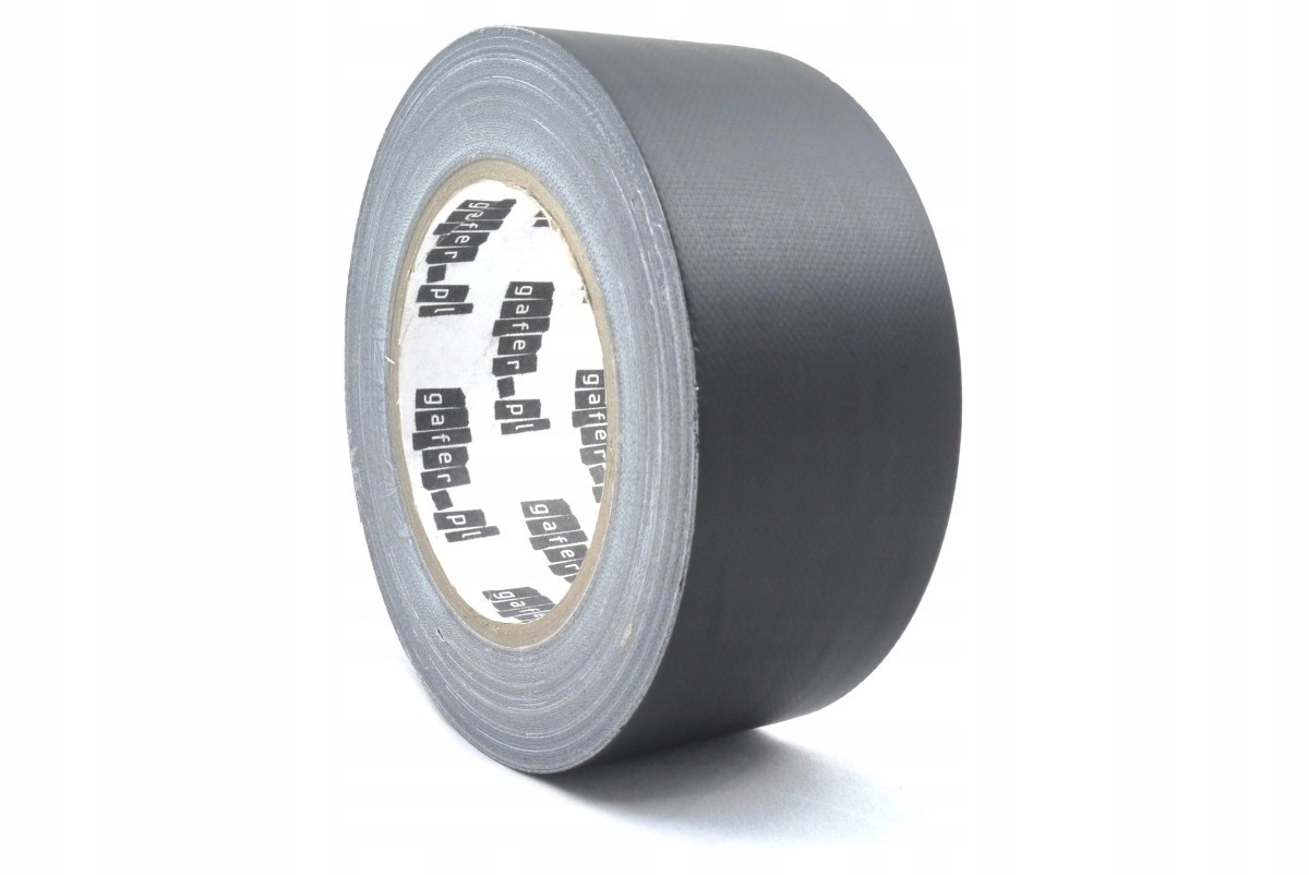 Item 50mm x 25m black gaffa duct tape matte