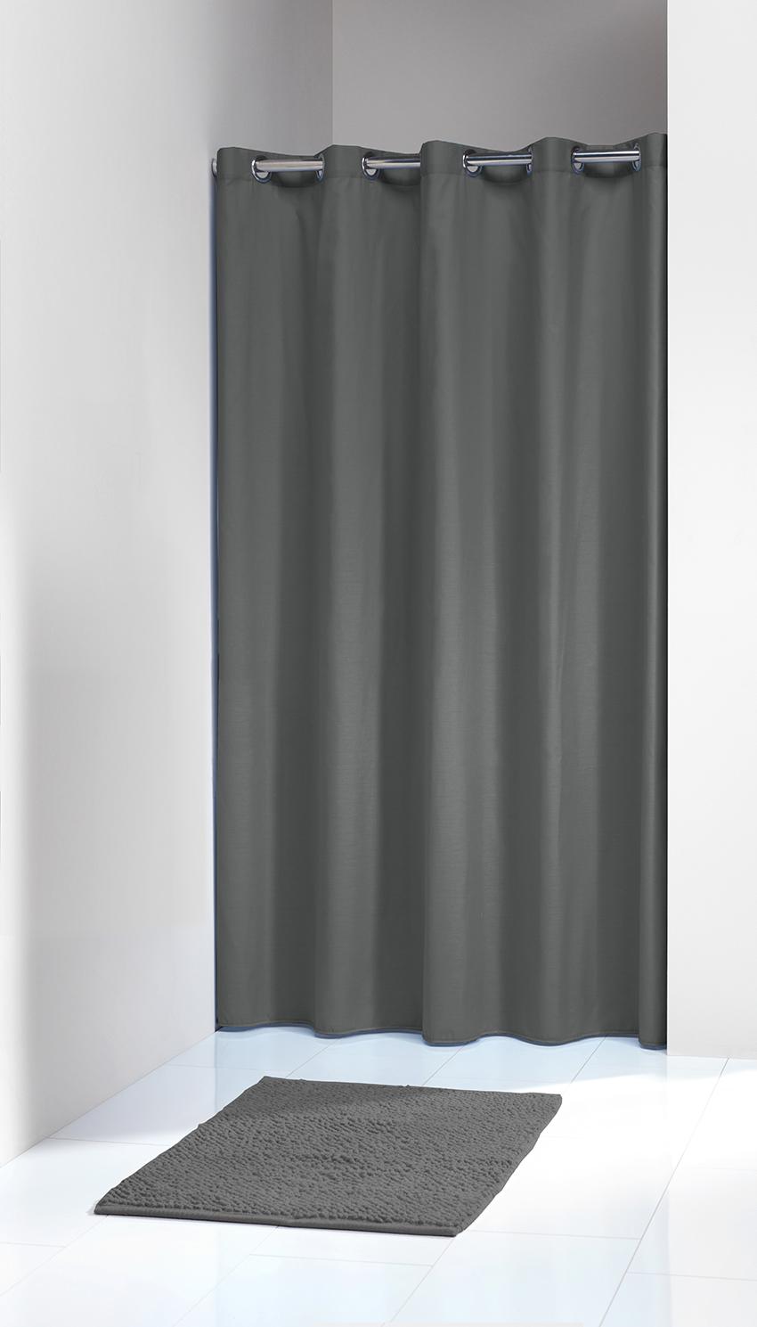 Sprchový záves Sealskin Coloris sivý 180x200