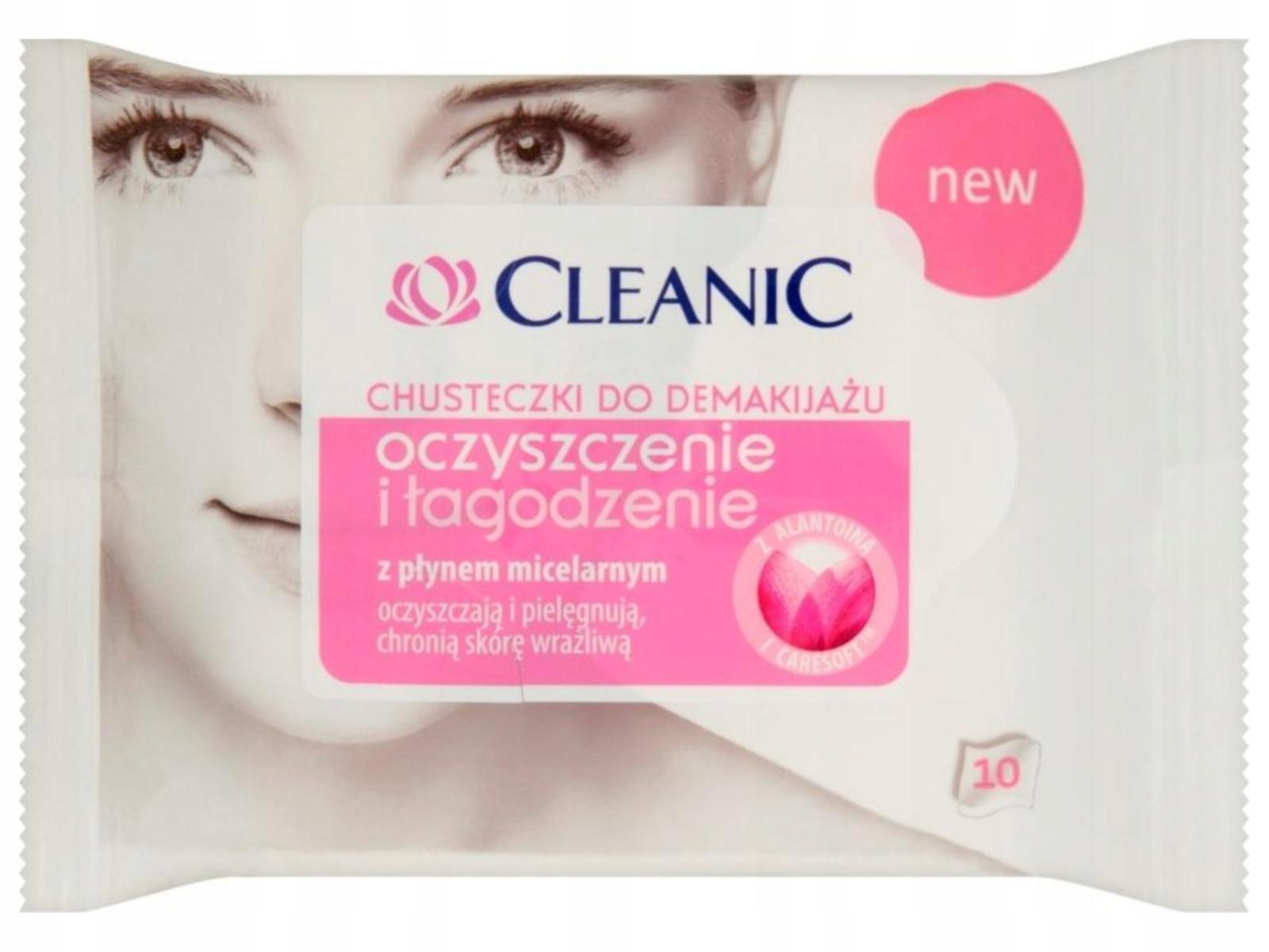 Cleanic влажные Салфетки для снятия макияжа 1op.-10шт