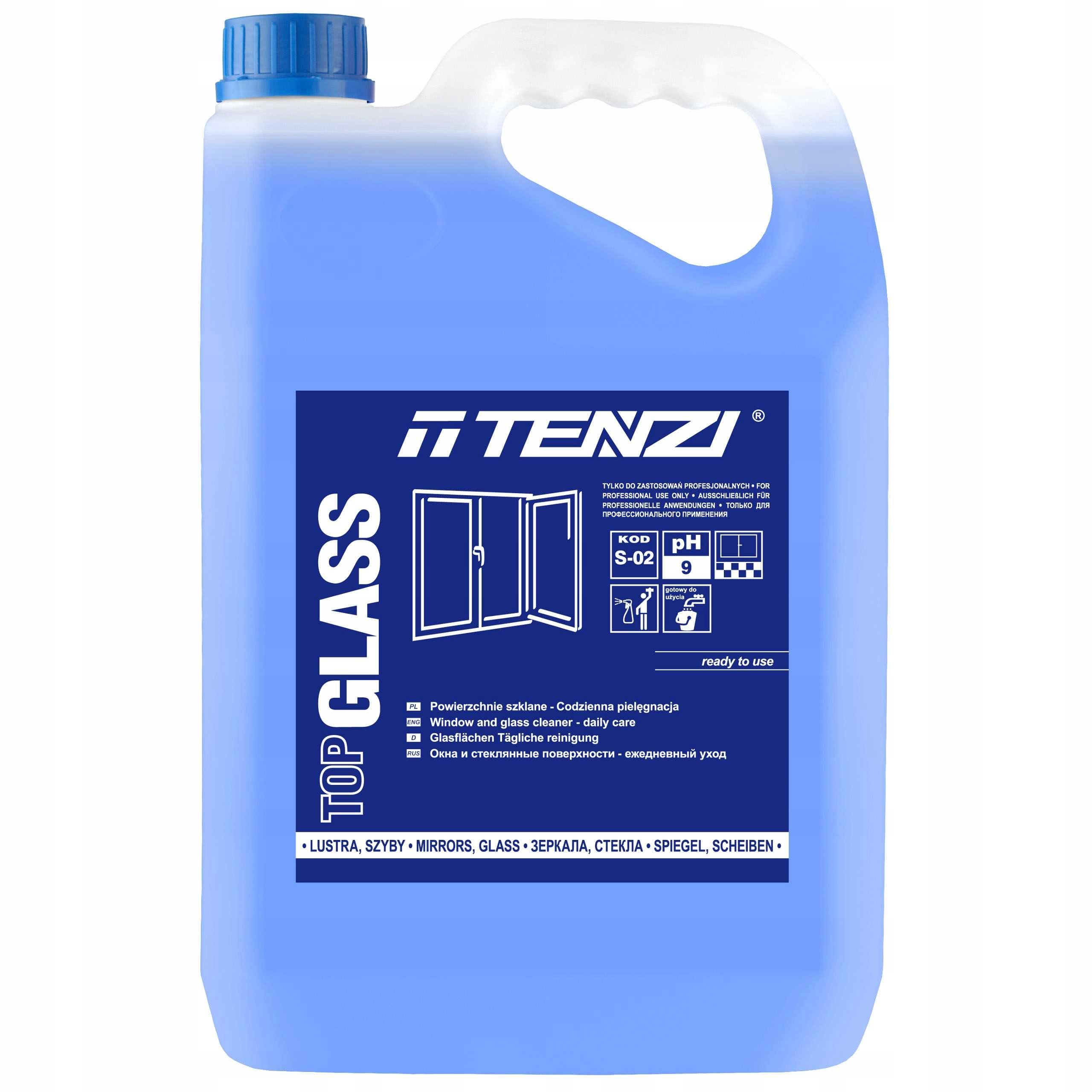 Tenzi Top Glass, Жидкость для мытья стекол, зеркал стекла 5Л
