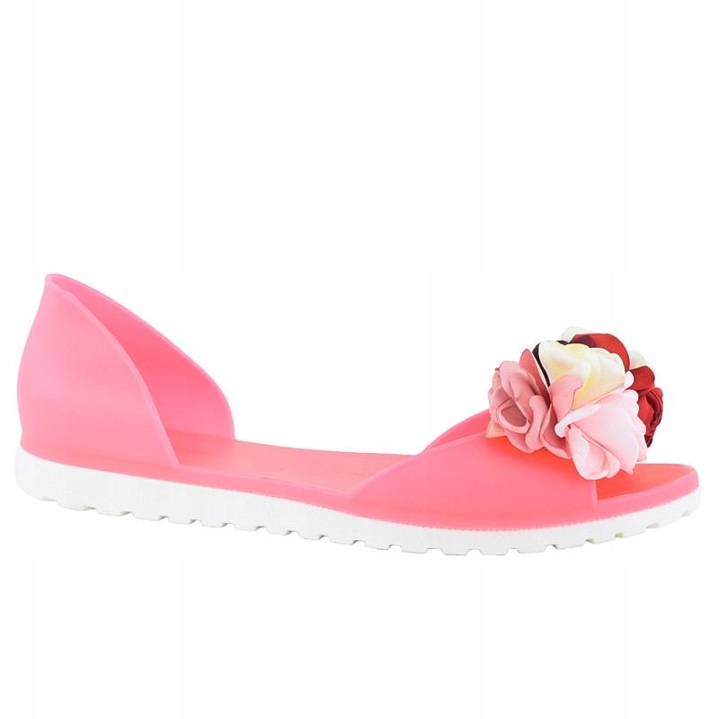 Fuksja Meliski Kwiaty Sandały Różowe SE9613 r.37
