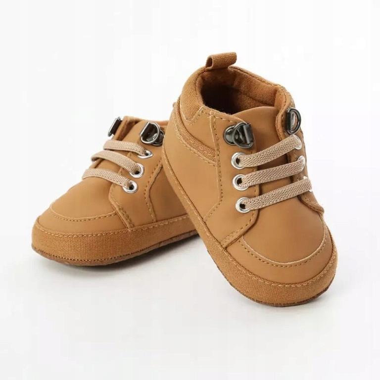 Buty trzewiki niemowlęce buciki KARMELOWE 18 0m+