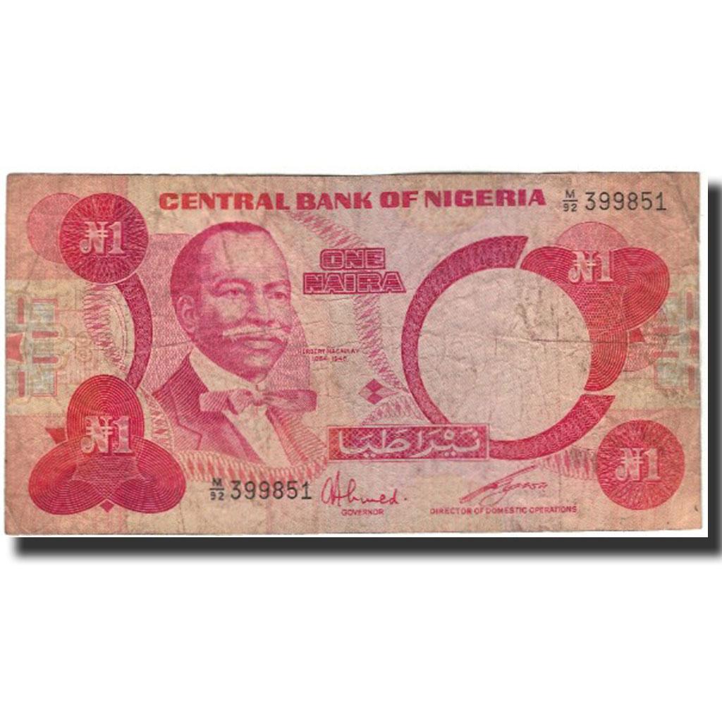 Банкнота, Нигерия, 1 Найра, без даты (1979-84), КМ: 1