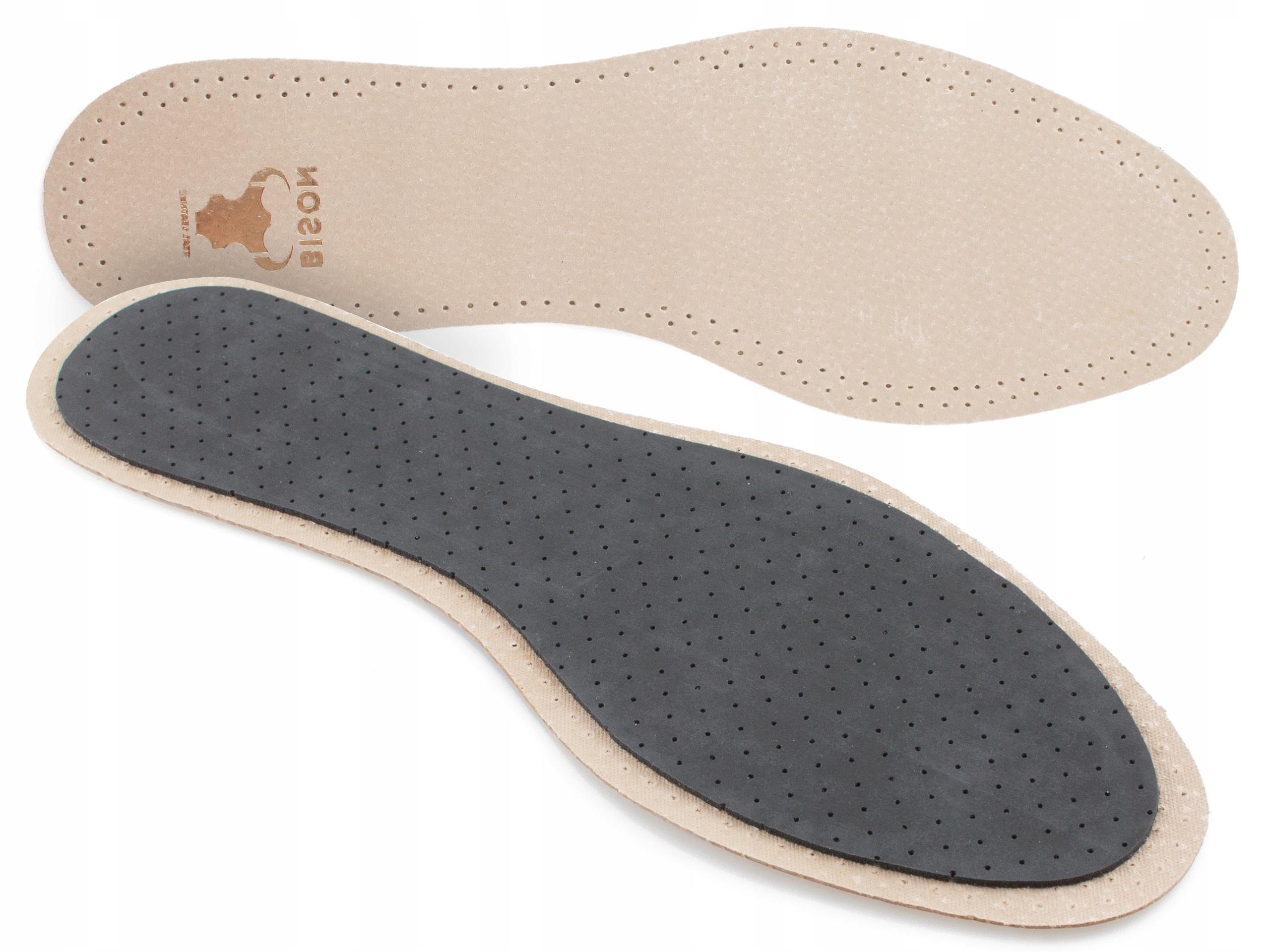 SKÓRZANE wkładki do butów PRZECIWPOTNE SKÓRA
