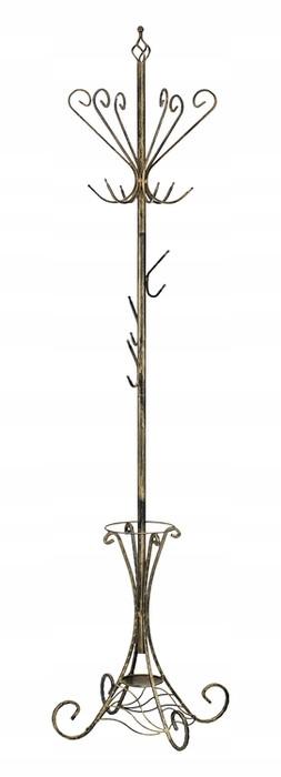 STÁLY RETRO vešiak Strieborný stojan na dáždniky