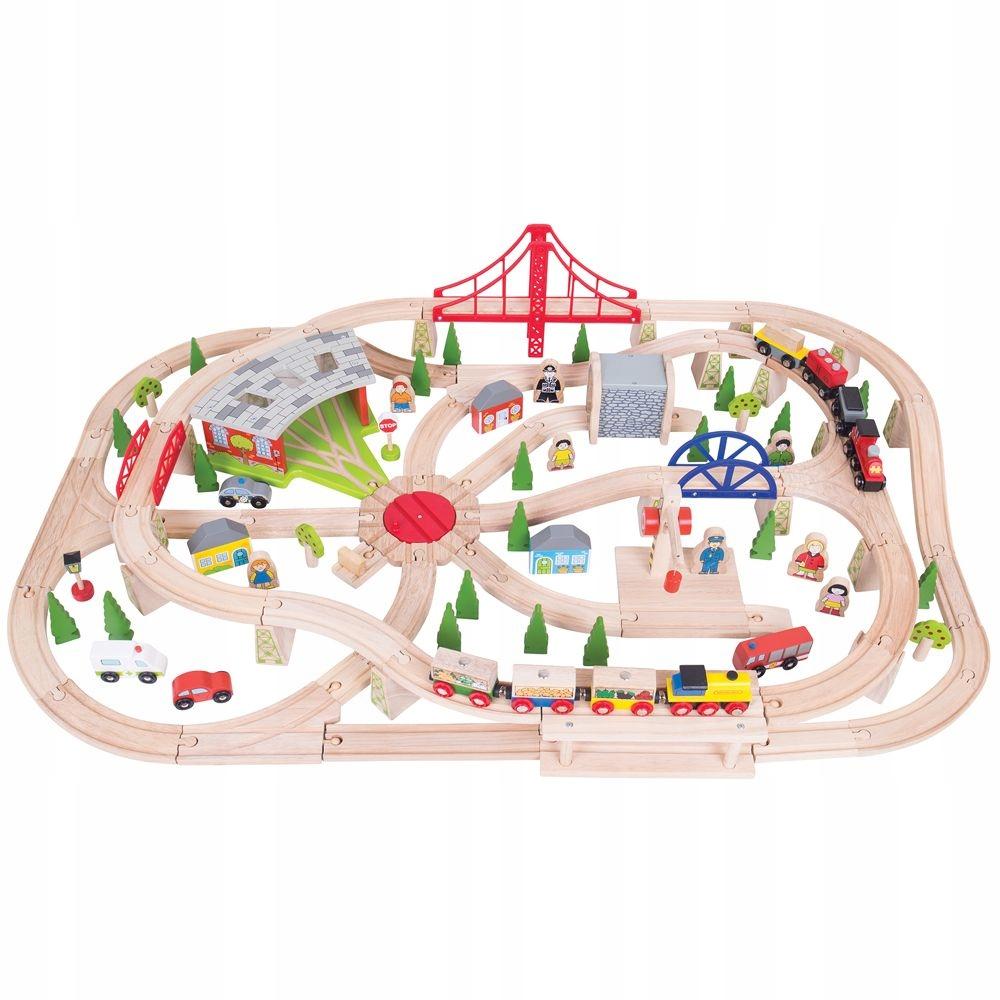 Hračka pre dieťa Drevená železničná doprava