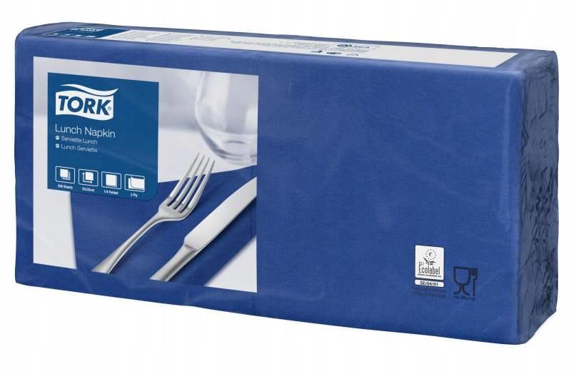 Tork 477215 - Serwetki lunchowe 1/4 - Niebieskie