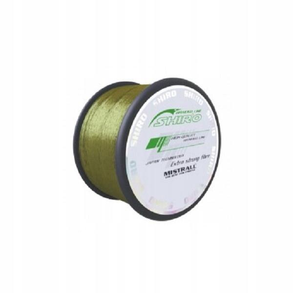 Shiro pletená line Pletená Line - Zelená 0.19 mm 16.5 kg