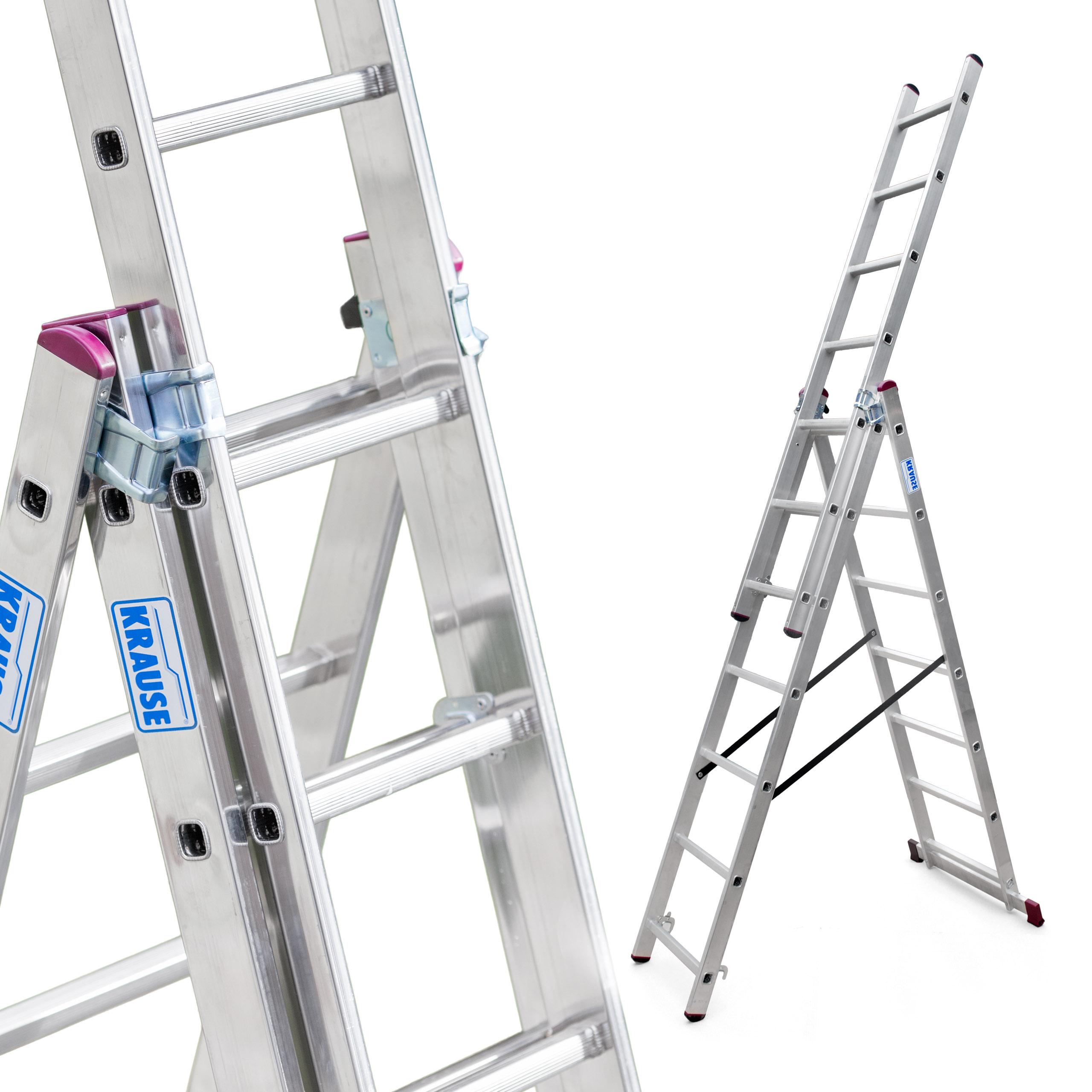 Лестница алюминиевая 3x7 Краузе CORDA выс. роб. 5 ,1м