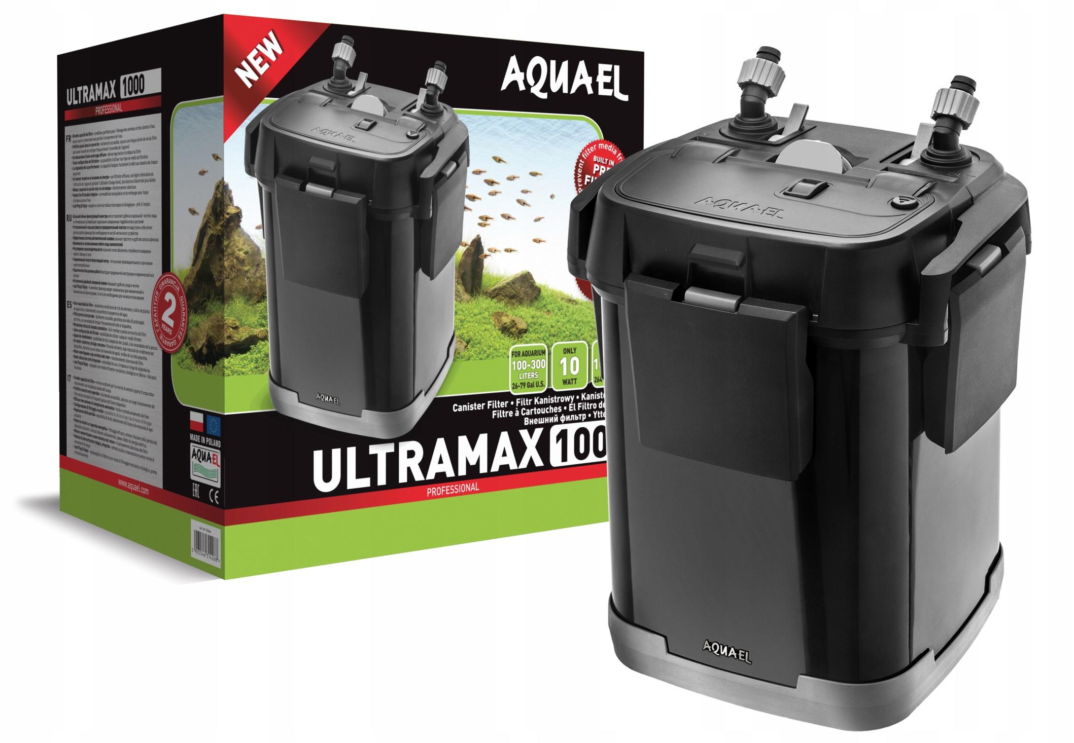AQUAEL ULTRAMAX 1000 FILTR ZEWNĘTRZNY 300L +GRATIS