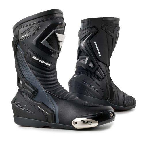 SHIMA RSX-6 BLACK черные мотоциклетные ботинки + БЕСПЛАТНО
