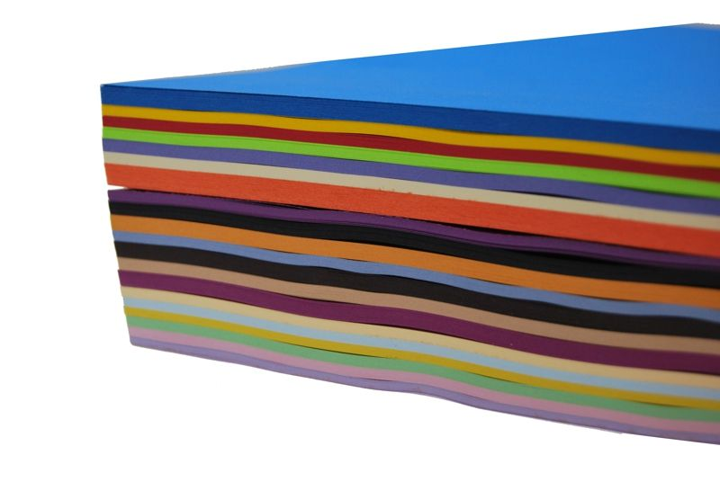Item Paper colour MIX 20 colors in ryzie 500 A4 sheets.