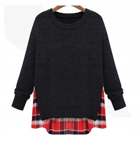 Cardigan dlhý sveter pre ženy pončo vintage 4XL 48
