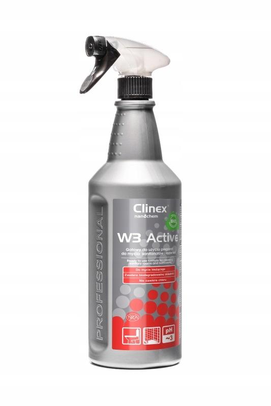 Clinex W3 Active Bio Жидкость для мытья сантехнического оборудования, 1л