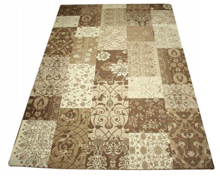 Komfort Chennille koberce Patchwork Vintage brown