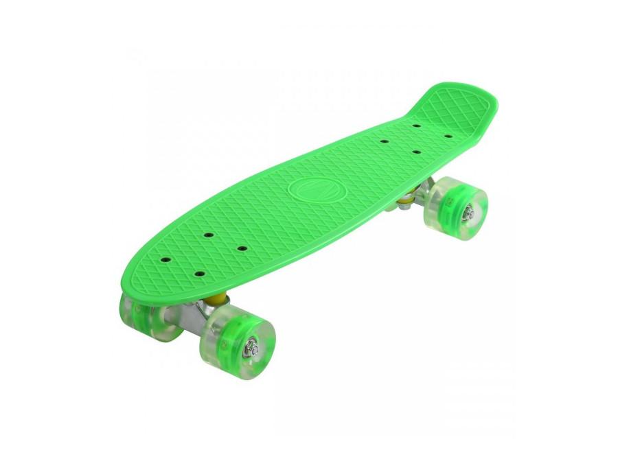 Skateboard SKATEBOARD FISZKA svietiacimi LED PENNY Lajno