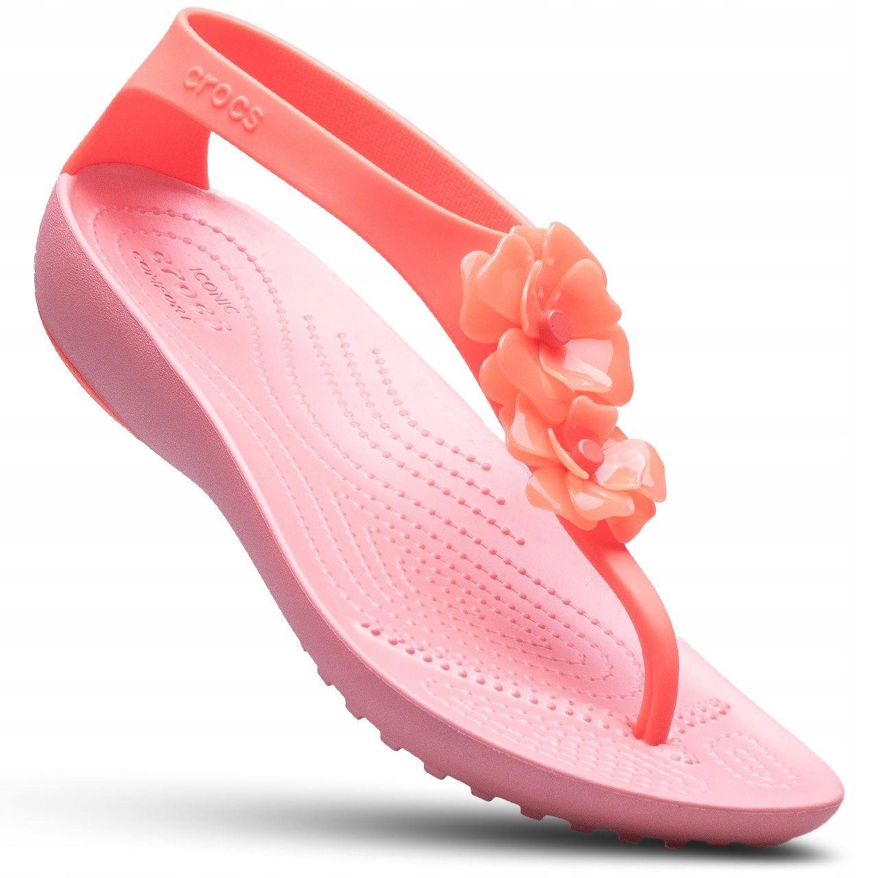 1357f8e38199a Crocs klapki damskie japonki sandały Serena Flip 7952670418 - Allegro.pl
