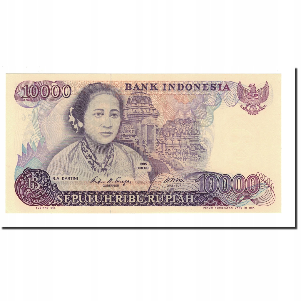 Банкнота, Индонезия, 10 000 рупий, 1985, КМ: 126a,
