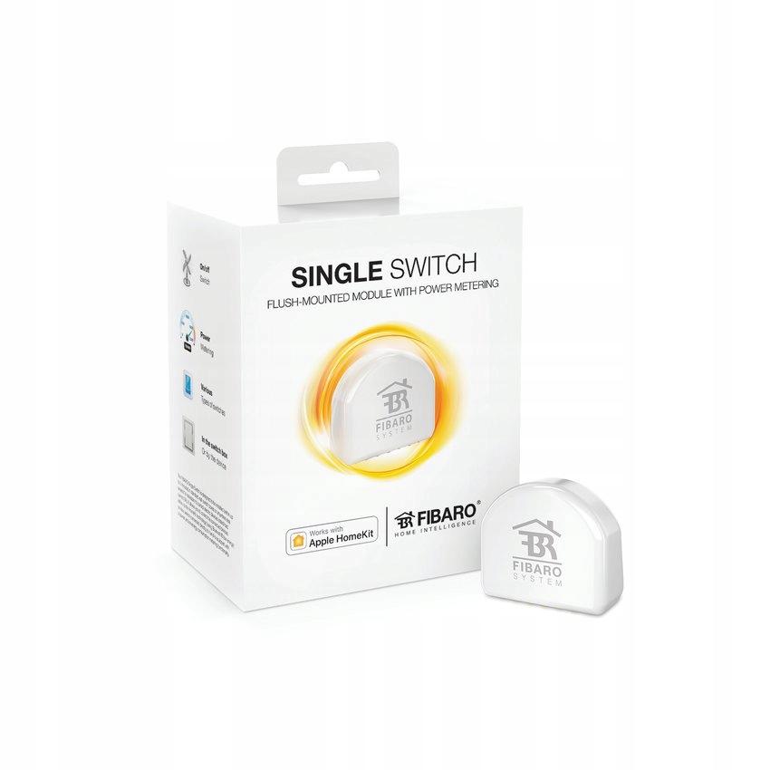 Fibaro Single Switch (HomeKit) biały