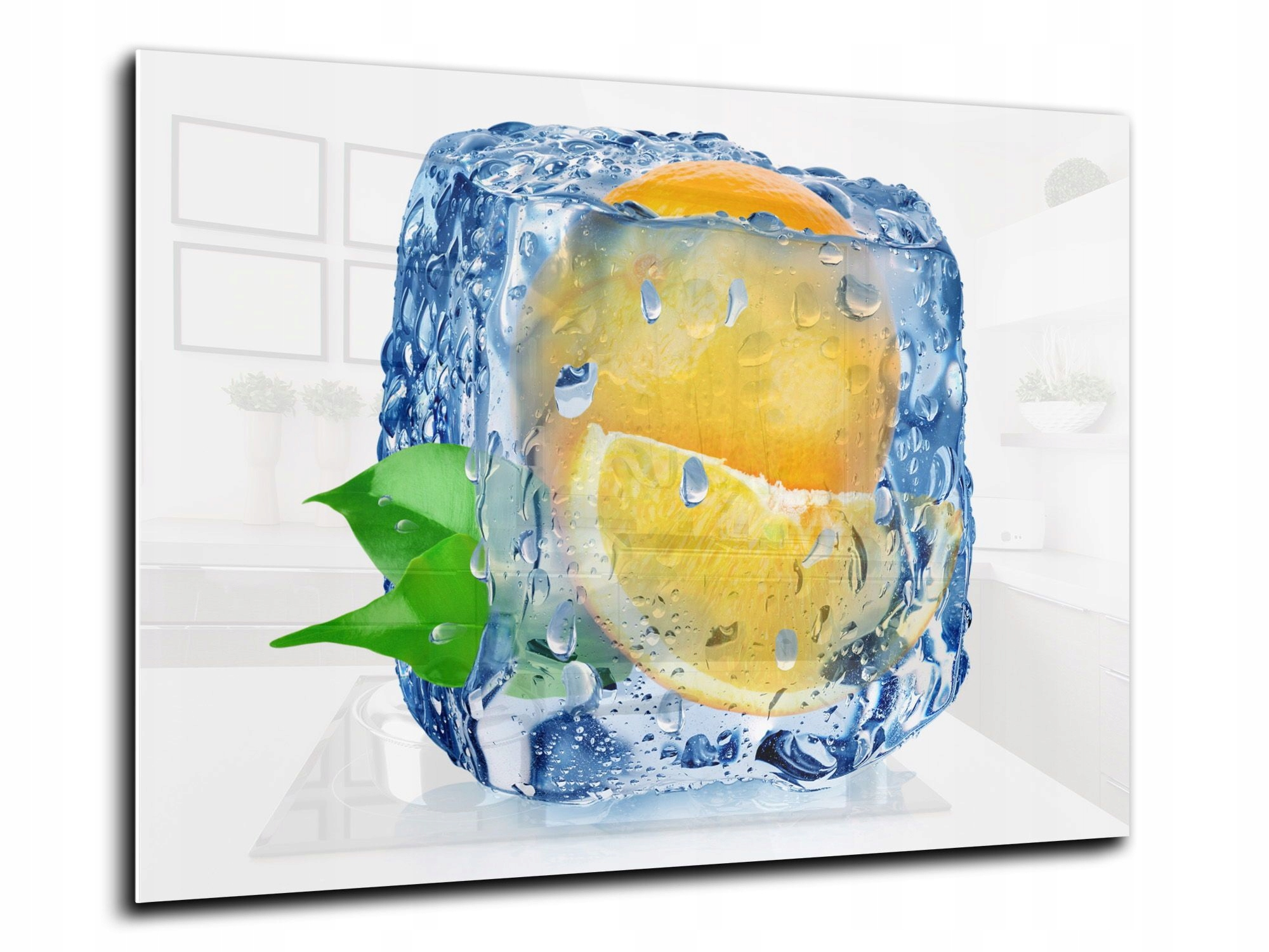 steny dlaždice, sklo, kuchynské 100x70 citrón