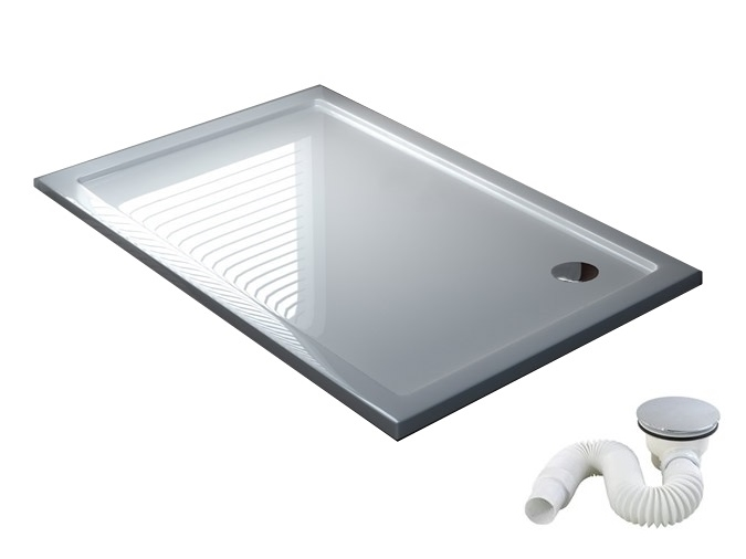 Tenká sprchová vanička 80x90 cm + nízky sifón