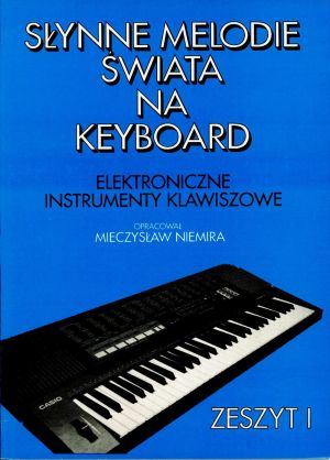 Item The book is well-Known tunes in the world on keyboard cz. 1