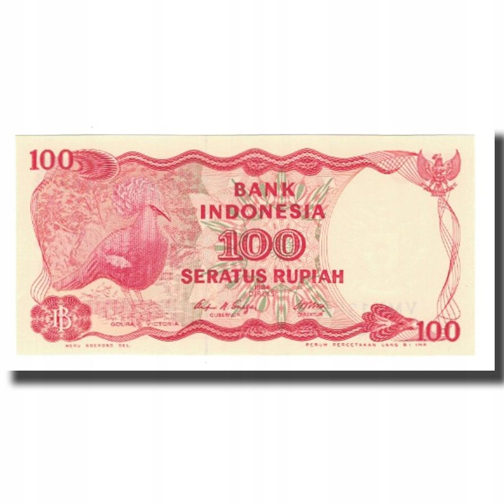 Банкнота, Индонезия, 100 рупий, 1984, без даты, KM: