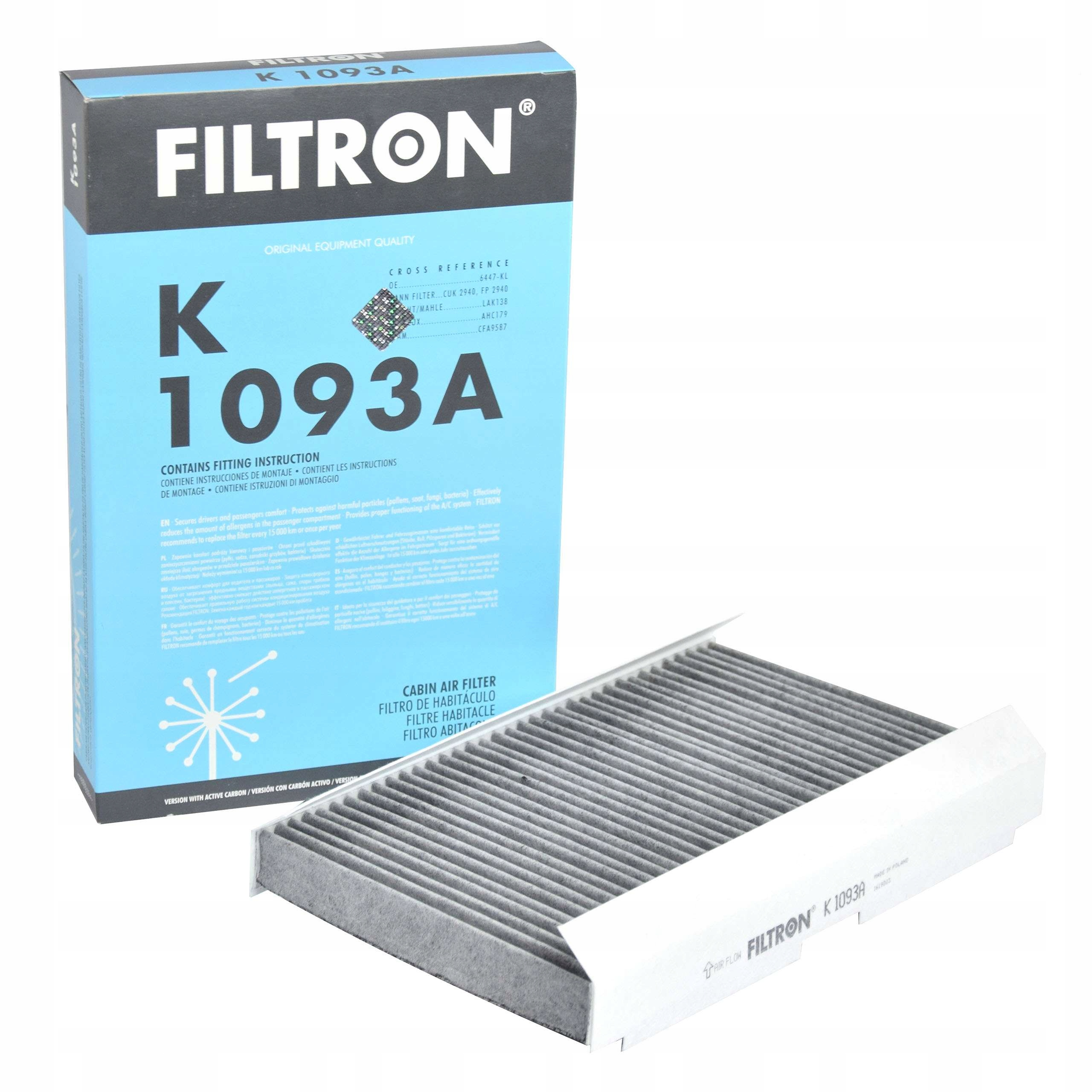 filtron фильтр кабины k1093a к citroen c3  c4
