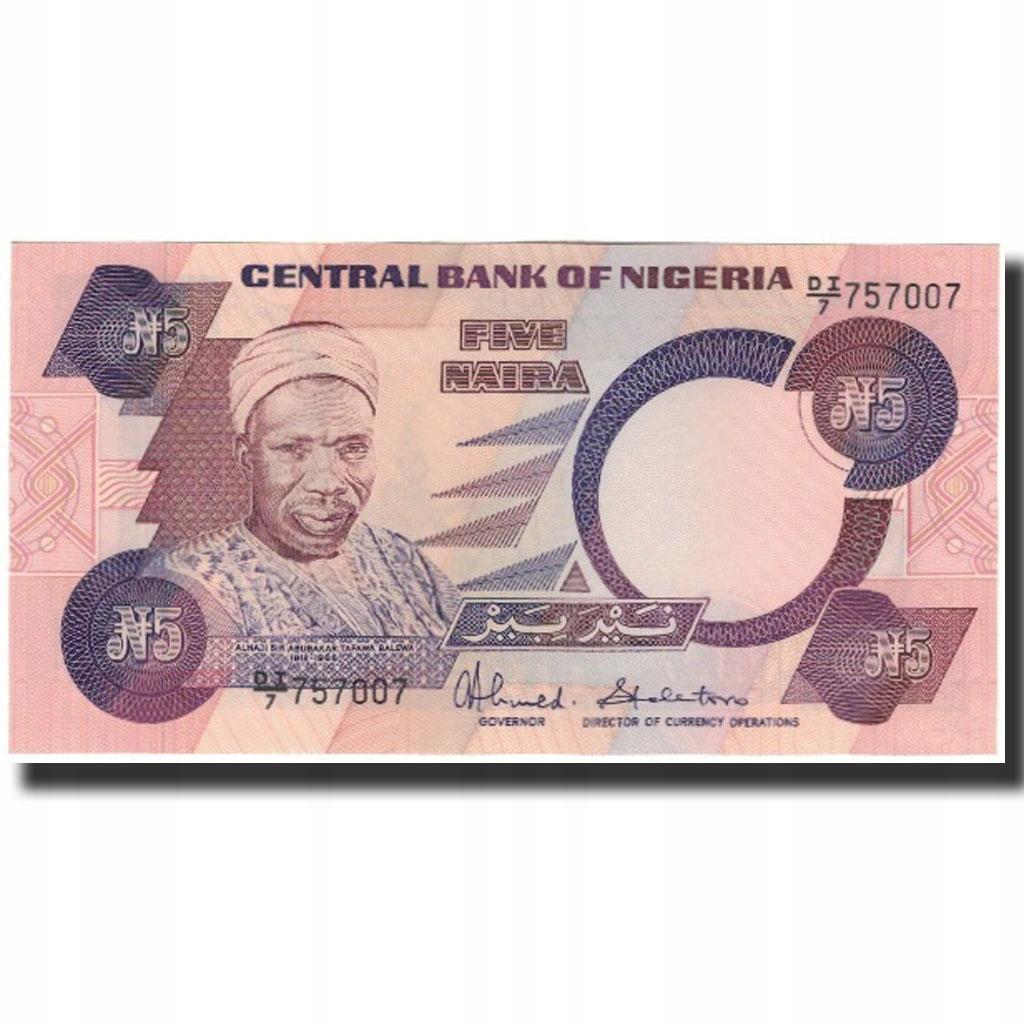 Банкнота, Нигерия, 5 Найра, без даты 1984-2001, КМ: 2